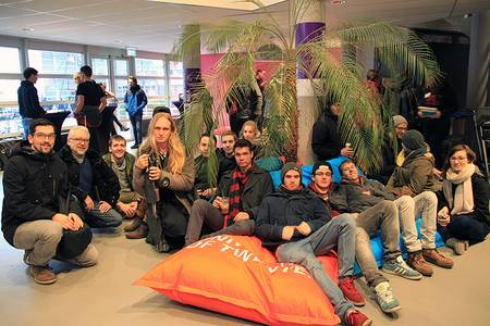 Die Coburger Delegation bei den Open Days der University of Twente