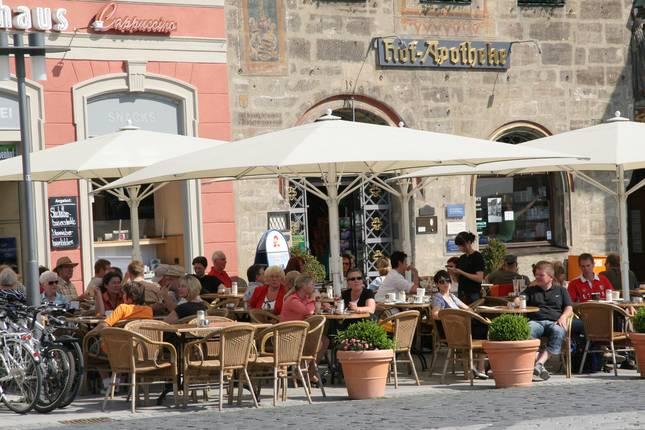 Cafeteria in der Coburger Innenstadt
