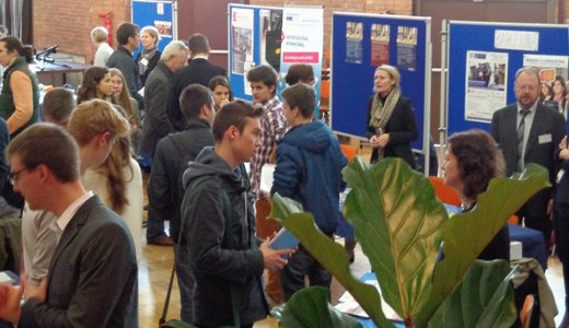 More than 300 students visited the education fair from the German School of Barcelona.